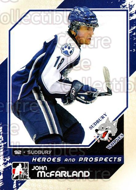 2010-11 ITG Heroes and Prospects #34 John McFarland<br/>19 In Stock - $1.00 each - <a href=https://centericecollectibles.foxycart.com/cart?name=2010-11%20ITG%20Heroes%20and%20Prospects%20%2334%20John%20McFarland...&quantity_max=19&price=$1.00&code=283113 class=foxycart> Buy it now! </a>