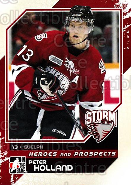 2010-11 ITG Heroes and Prospects #37 Peter Holland<br/>24 In Stock - $1.00 each - <a href=https://centericecollectibles.foxycart.com/cart?name=2010-11%20ITG%20Heroes%20and%20Prospects%20%2337%20Peter%20Holland...&quantity_max=24&price=$1.00&code=283116 class=foxycart> Buy it now! </a>