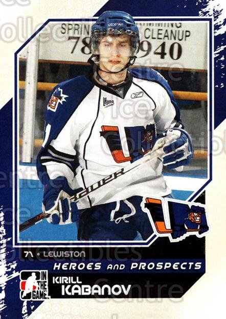 2010-11 ITG Heroes and Prospects #40 Kirill Kabanov<br/>16 In Stock - $1.00 each - <a href=https://centericecollectibles.foxycart.com/cart?name=2010-11%20ITG%20Heroes%20and%20Prospects%20%2340%20Kirill%20Kabanov...&quantity_max=16&price=$1.00&code=283119 class=foxycart> Buy it now! </a>