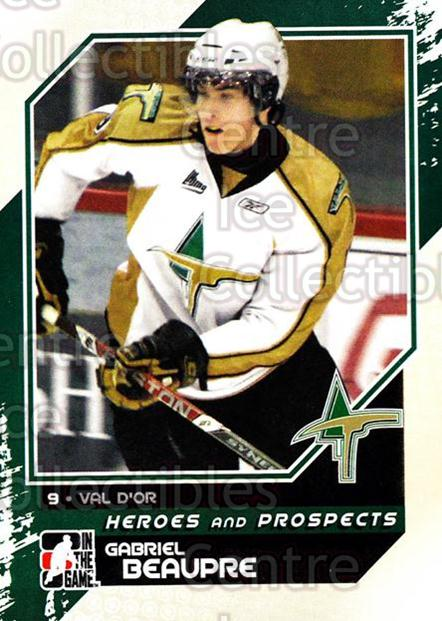 2010-11 ITG Heroes and Prospects #42 Gabriel Beaupre<br/>21 In Stock - $1.00 each - <a href=https://centericecollectibles.foxycart.com/cart?name=2010-11%20ITG%20Heroes%20and%20Prospects%20%2342%20Gabriel%20Beaupre...&quantity_max=21&price=$1.00&code=283121 class=foxycart> Buy it now! </a>