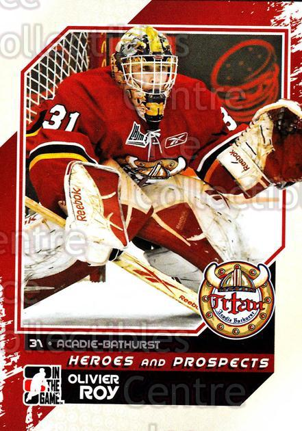 2010-11 ITG Heroes and Prospects #60 Olivier Roy<br/>16 In Stock - $1.00 each - <a href=https://centericecollectibles.foxycart.com/cart?name=2010-11%20ITG%20Heroes%20and%20Prospects%20%2360%20Olivier%20Roy...&quantity_max=16&price=$1.00&code=283139 class=foxycart> Buy it now! </a>
