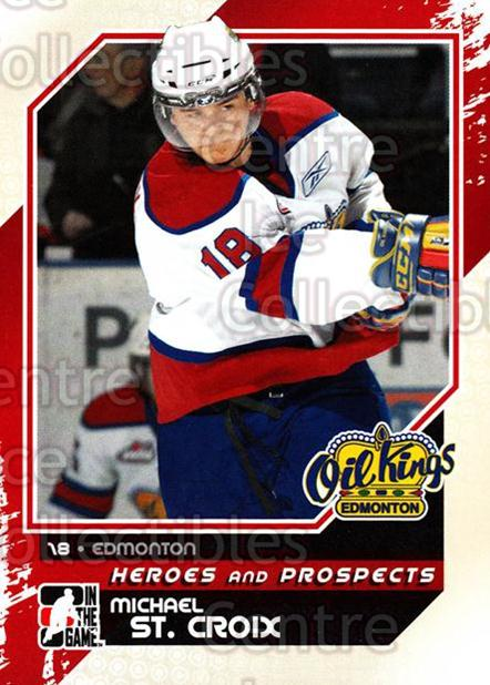 2010-11 ITG Heroes and Prospects #63 Michael St. Croix<br/>21 In Stock - $1.00 each - <a href=https://centericecollectibles.foxycart.com/cart?name=2010-11%20ITG%20Heroes%20and%20Prospects%20%2363%20Michael%20St.%20Cro...&quantity_max=21&price=$1.00&code=283142 class=foxycart> Buy it now! </a>