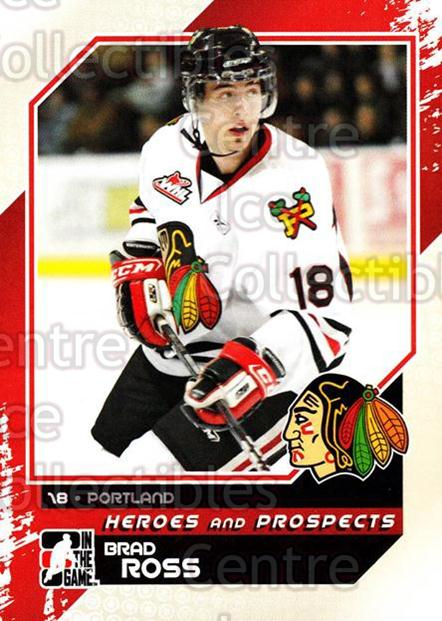 2010-11 ITG Heroes and Prospects #75 Brad Ross<br/>18 In Stock - $1.00 each - <a href=https://centericecollectibles.foxycart.com/cart?name=2010-11%20ITG%20Heroes%20and%20Prospects%20%2375%20Brad%20Ross...&quantity_max=18&price=$1.00&code=283154 class=foxycart> Buy it now! </a>