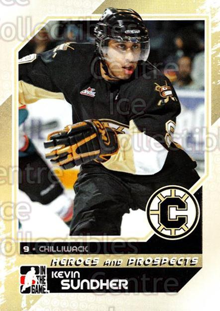2010-11 ITG Heroes and Prospects #76 Kevin Sundher<br/>23 In Stock - $1.00 each - <a href=https://centericecollectibles.foxycart.com/cart?name=2010-11%20ITG%20Heroes%20and%20Prospects%20%2376%20Kevin%20Sundher...&quantity_max=23&price=$1.00&code=283155 class=foxycart> Buy it now! </a>
