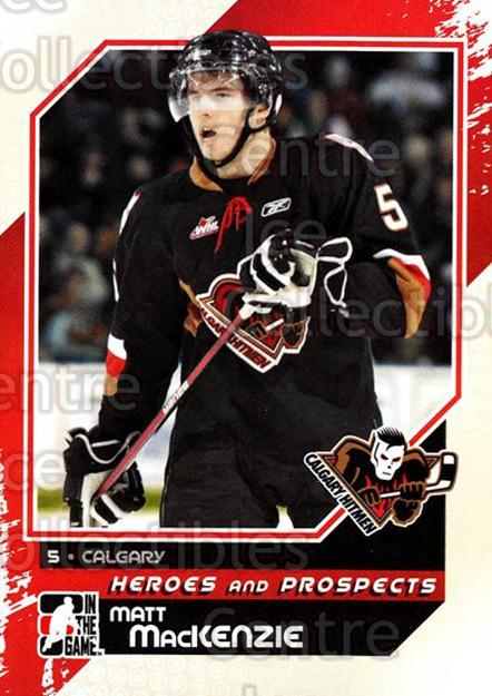 2010-11 ITG Heroes and Prospects #77 Matt MacKenzie<br/>23 In Stock - $1.00 each - <a href=https://centericecollectibles.foxycart.com/cart?name=2010-11%20ITG%20Heroes%20and%20Prospects%20%2377%20Matt%20MacKenzie...&quantity_max=23&price=$1.00&code=283156 class=foxycart> Buy it now! </a>