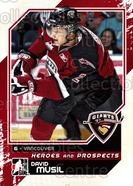 2010-11 ITG Heroes and Prospects #87 David Musil<br/>23 In Stock - $1.00 each - <a href=https://centericecollectibles.foxycart.com/cart?name=2010-11%20ITG%20Heroes%20and%20Prospects%20%2387%20David%20Musil...&quantity_max=23&price=$1.00&code=283166 class=foxycart> Buy it now! </a>
