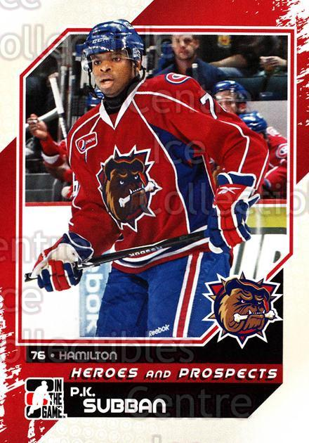 2010-11 ITG Heroes and Prospects #101 PK Subban<br/>45 In Stock - $1.00 each - <a href=https://centericecollectibles.foxycart.com/cart?name=2010-11%20ITG%20Heroes%20and%20Prospects%20%23101%20PK%20Subban...&quantity_max=45&price=$1.00&code=283180 class=foxycart> Buy it now! </a>