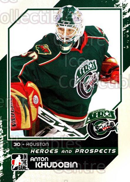 2010-11 ITG Heroes and Prospects #105 Anton Khudobin<br/>25 In Stock - $1.00 each - <a href=https://centericecollectibles.foxycart.com/cart?name=2010-11%20ITG%20Heroes%20and%20Prospects%20%23105%20Anton%20Khudobin...&quantity_max=25&price=$1.00&code=283184 class=foxycart> Buy it now! </a>