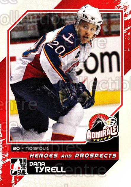 2010-11 ITG Heroes and Prospects #107 Dana Tyrell<br/>25 In Stock - $1.00 each - <a href=https://centericecollectibles.foxycart.com/cart?name=2010-11%20ITG%20Heroes%20and%20Prospects%20%23107%20Dana%20Tyrell...&quantity_max=25&price=$1.00&code=283186 class=foxycart> Buy it now! </a>