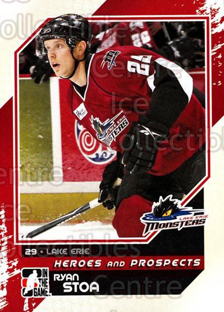 2010-11 ITG Heroes and Prospects #108 Ryan Stoa<br/>25 In Stock - $1.00 each - <a href=https://centericecollectibles.foxycart.com/cart?name=2010-11%20ITG%20Heroes%20and%20Prospects%20%23108%20Ryan%20Stoa...&quantity_max=25&price=$1.00&code=283187 class=foxycart> Buy it now! </a>