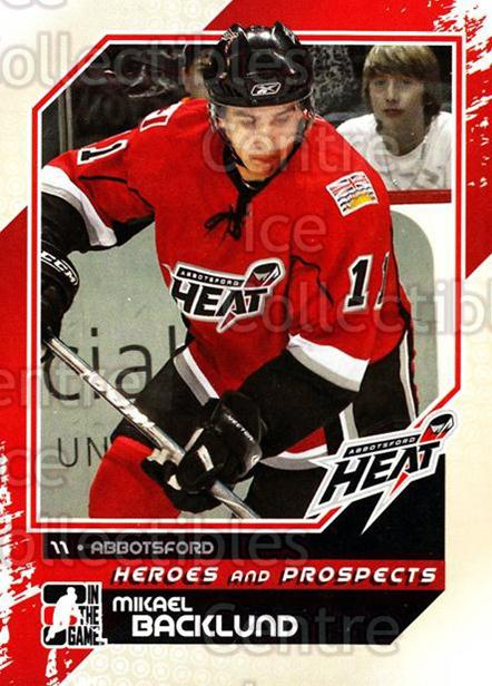 2010-11 ITG Heroes and Prospects #110 Mikael Backlund<br/>22 In Stock - $1.00 each - <a href=https://centericecollectibles.foxycart.com/cart?name=2010-11%20ITG%20Heroes%20and%20Prospects%20%23110%20Mikael%20Backlund...&quantity_max=22&price=$1.00&code=283189 class=foxycart> Buy it now! </a>