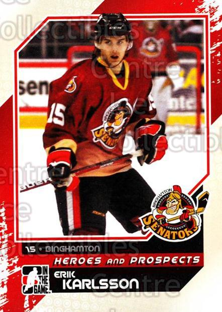 2010-11 ITG Heroes and Prospects #114 Erik Karlsson<br/>46 In Stock - $1.00 each - <a href=https://centericecollectibles.foxycart.com/cart?name=2010-11%20ITG%20Heroes%20and%20Prospects%20%23114%20Erik%20Karlsson...&quantity_max=46&price=$1.00&code=283193 class=foxycart> Buy it now! </a>