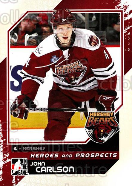 2010-11 ITG Heroes and Prospects #118 John Carlson<br/>21 In Stock - $1.00 each - <a href=https://centericecollectibles.foxycart.com/cart?name=2010-11%20ITG%20Heroes%20and%20Prospects%20%23118%20John%20Carlson...&quantity_max=21&price=$1.00&code=283197 class=foxycart> Buy it now! </a>