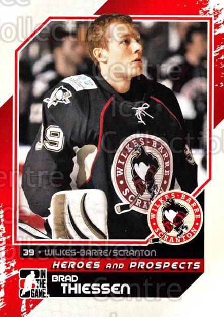 2010-11 ITG Heroes and Prospects #126 Brad Thiessen<br/>21 In Stock - $1.00 each - <a href=https://centericecollectibles.foxycart.com/cart?name=2010-11%20ITG%20Heroes%20and%20Prospects%20%23126%20Brad%20Thiessen...&quantity_max=21&price=$1.00&code=283205 class=foxycart> Buy it now! </a>