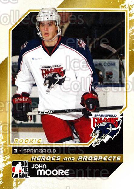 2010-11 ITG Heroes and Prospects #137 John Moore<br/>21 In Stock - $1.00 each - <a href=https://centericecollectibles.foxycart.com/cart?name=2010-11%20ITG%20Heroes%20and%20Prospects%20%23137%20John%20Moore...&quantity_max=21&price=$1.00&code=283216 class=foxycart> Buy it now! </a>