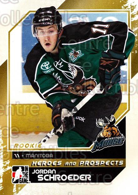2010-11 ITG Heroes and Prospects #139 Jordan Schroeder<br/>22 In Stock - $1.00 each - <a href=https://centericecollectibles.foxycart.com/cart?name=2010-11%20ITG%20Heroes%20and%20Prospects%20%23139%20Jordan%20Schroede...&quantity_max=22&price=$1.00&code=283218 class=foxycart> Buy it now! </a>