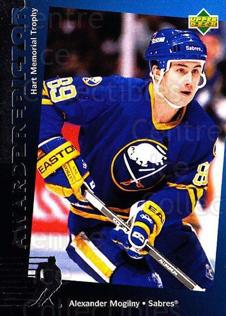 1994-95 Upper Deck Predictor Hobby Exchange Silver #9 Alexander Mogilny<br/>2 In Stock - $3.00 each - <a href=https://centericecollectibles.foxycart.com/cart?name=1994-95%20Upper%20Deck%20Predictor%20Hobby%20Exchange%20Silver%20%239%20Alexander%20Mogil...&quantity_max=2&price=$3.00&code=283261 class=foxycart> Buy it now! </a>