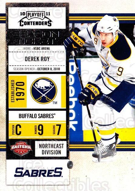 2010-11 Panini Contenders #3 Derek Roy<br/>2 In Stock - $1.00 each - <a href=https://centericecollectibles.foxycart.com/cart?name=2010-11%20Panini%20Contenders%20%233%20Derek%20Roy...&quantity_max=2&price=$1.00&code=283287 class=foxycart> Buy it now! </a>