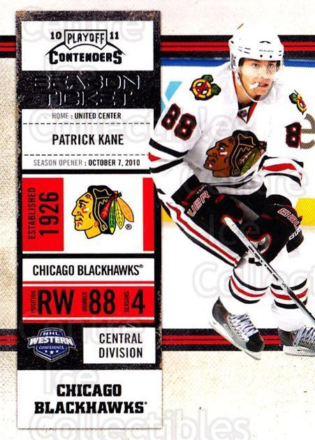 2010-11 Panini Contenders #5 Patrick Kane<br/>3 In Stock - $2.00 each - <a href=https://centericecollectibles.foxycart.com/cart?name=2010-11%20Panini%20Contenders%20%235%20Patrick%20Kane...&quantity_max=3&price=$2.00&code=283289 class=foxycart> Buy it now! </a>