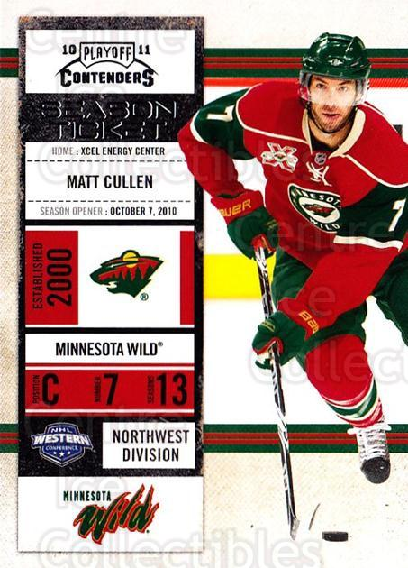 2010-11 Panini Contenders #10 Matt Cullen<br/>3 In Stock - $1.00 each - <a href=https://centericecollectibles.foxycart.com/cart?name=2010-11%20Panini%20Contenders%20%2310%20Matt%20Cullen...&quantity_max=3&price=$1.00&code=283294 class=foxycart> Buy it now! </a>