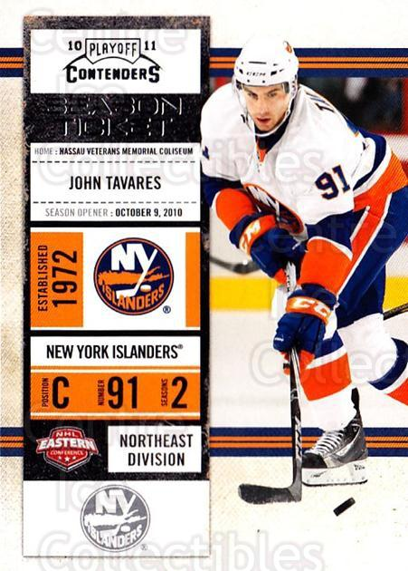 2010-11 Panini Contenders #12 John Tavares<br/>3 In Stock - $1.00 each - <a href=https://centericecollectibles.foxycart.com/cart?name=2010-11%20Panini%20Contenders%20%2312%20John%20Tavares...&quantity_max=3&price=$1.00&code=283296 class=foxycart> Buy it now! </a>