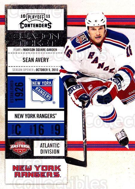 2010-11 Panini Contenders #13 Sean Avery<br/>3 In Stock - $1.00 each - <a href=https://centericecollectibles.foxycart.com/cart?name=2010-11%20Panini%20Contenders%20%2313%20Sean%20Avery...&quantity_max=3&price=$1.00&code=283297 class=foxycart> Buy it now! </a>