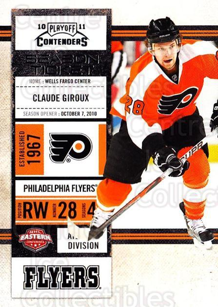 2010-11 Panini Contenders #14 Claude Giroux<br/>3 In Stock - $1.00 each - <a href=https://centericecollectibles.foxycart.com/cart?name=2010-11%20Panini%20Contenders%20%2314%20Claude%20Giroux...&quantity_max=3&price=$1.00&code=283298 class=foxycart> Buy it now! </a>