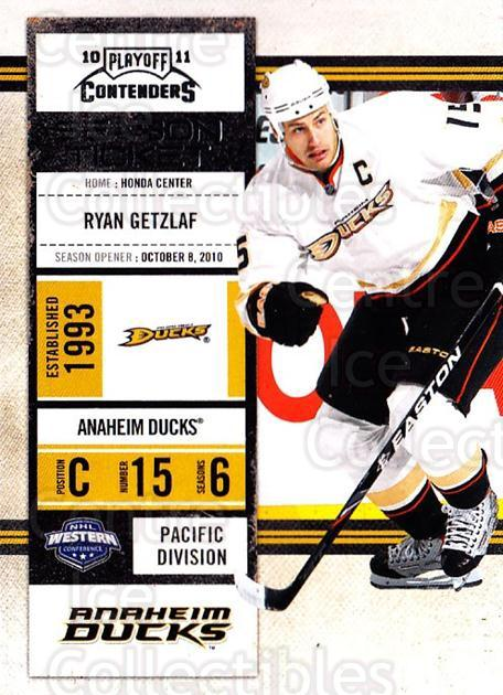 2010-11 Panini Contenders #21 Ryan Getzlaf<br/>3 In Stock - $1.00 each - <a href=https://centericecollectibles.foxycart.com/cart?name=2010-11%20Panini%20Contenders%20%2321%20Ryan%20Getzlaf...&quantity_max=3&price=$1.00&code=283305 class=foxycart> Buy it now! </a>
