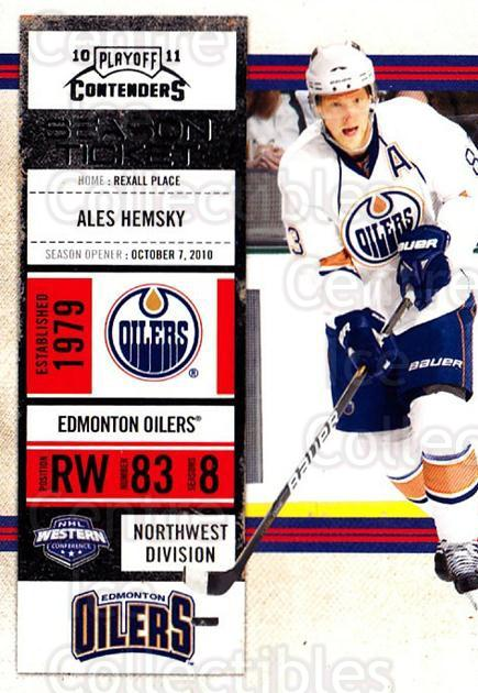2010-11 Panini Contenders #28 Ales Hemsky<br/>3 In Stock - $1.00 each - <a href=https://centericecollectibles.foxycart.com/cart?name=2010-11%20Panini%20Contenders%20%2328%20Ales%20Hemsky...&quantity_max=3&price=$1.00&code=283312 class=foxycart> Buy it now! </a>