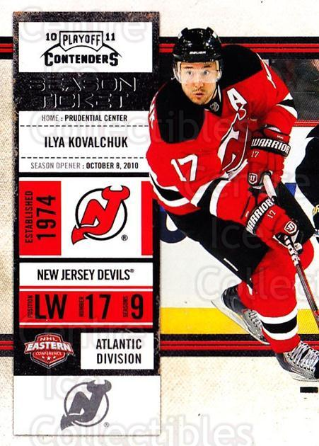 2010-11 Panini Contenders #31 Ilya Kovalchuk<br/>2 In Stock - $1.00 each - <a href=https://centericecollectibles.foxycart.com/cart?name=2010-11%20Panini%20Contenders%20%2331%20Ilya%20Kovalchuk...&quantity_max=2&price=$1.00&code=283315 class=foxycart> Buy it now! </a>