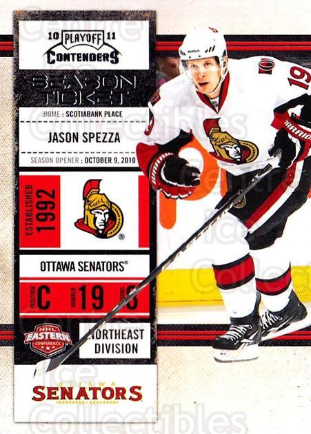 2010-11 Panini Contenders #33 Jason Spezza<br/>2 In Stock - $1.00 each - <a href=https://centericecollectibles.foxycart.com/cart?name=2010-11%20Panini%20Contenders%20%2333%20Jason%20Spezza...&quantity_max=2&price=$1.00&code=283317 class=foxycart> Buy it now! </a>