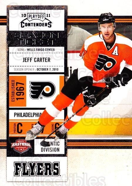 2010-11 Panini Contenders #34 Jeff Carter<br/>3 In Stock - $1.00 each - <a href=https://centericecollectibles.foxycart.com/cart?name=2010-11%20Panini%20Contenders%20%2334%20Jeff%20Carter...&quantity_max=3&price=$1.00&code=283318 class=foxycart> Buy it now! </a>