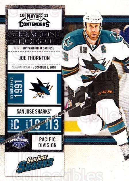 2010-11 Panini Contenders #36 Joe Thornton<br/>3 In Stock - $1.00 each - <a href=https://centericecollectibles.foxycart.com/cart?name=2010-11%20Panini%20Contenders%20%2336%20Joe%20Thornton...&quantity_max=3&price=$1.00&code=283320 class=foxycart> Buy it now! </a>