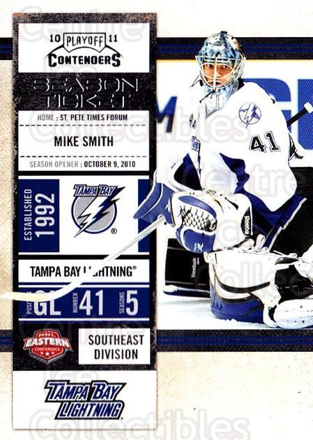 2010-11 Panini Contenders #38 Mike Smith<br/>3 In Stock - $1.00 each - <a href=https://centericecollectibles.foxycart.com/cart?name=2010-11%20Panini%20Contenders%20%2338%20Mike%20Smith...&quantity_max=3&price=$1.00&code=283322 class=foxycart> Buy it now! </a>