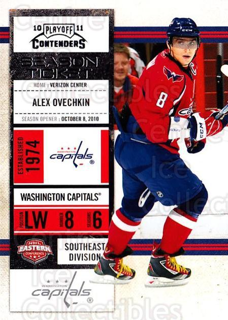 2010-11 Panini Contenders #40 Alex Ovechkin<br/>2 In Stock - $2.00 each - <a href=https://centericecollectibles.foxycart.com/cart?name=2010-11%20Panini%20Contenders%20%2340%20Alex%20Ovechkin...&quantity_max=2&price=$2.00&code=283324 class=foxycart> Buy it now! </a>