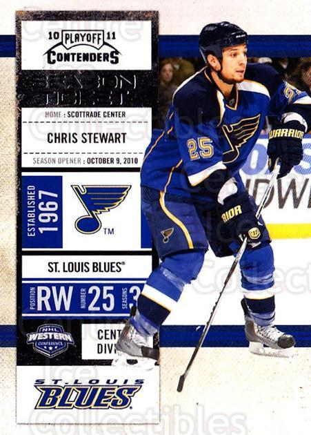 2010-11 Panini Contenders #45 Chris Stewart<br/>1 In Stock - $1.00 each - <a href=https://centericecollectibles.foxycart.com/cart?name=2010-11%20Panini%20Contenders%20%2345%20Chris%20Stewart...&quantity_max=1&price=$1.00&code=283329 class=foxycart> Buy it now! </a>