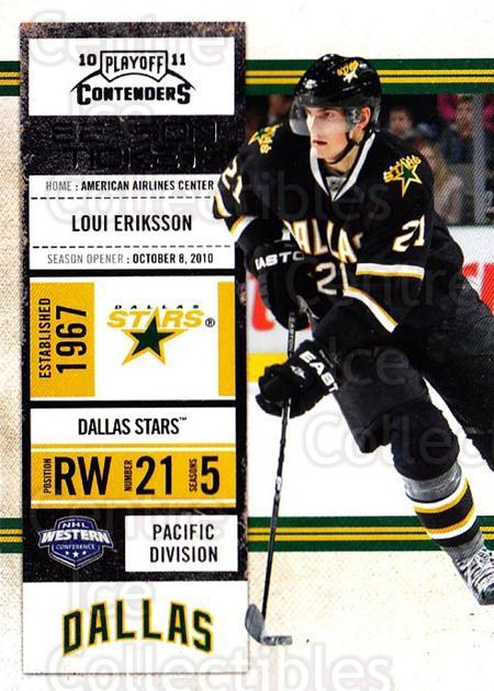 2010-11 Panini Contenders #46 Loui Eriksson<br/>3 In Stock - $1.00 each - <a href=https://centericecollectibles.foxycart.com/cart?name=2010-11%20Panini%20Contenders%20%2346%20Loui%20Eriksson...&quantity_max=3&price=$1.00&code=283330 class=foxycart> Buy it now! </a>