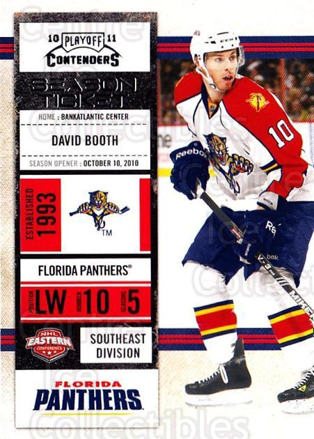 2010-11 Panini Contenders #48 David Booth<br/>3 In Stock - $1.00 each - <a href=https://centericecollectibles.foxycart.com/cart?name=2010-11%20Panini%20Contenders%20%2348%20David%20Booth...&quantity_max=3&price=$1.00&code=283332 class=foxycart> Buy it now! </a>