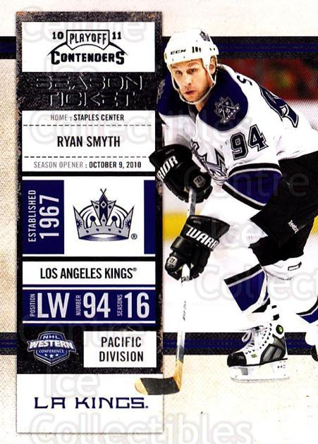 2010-11 Panini Contenders #49 Ryan Smyth<br/>3 In Stock - $1.00 each - <a href=https://centericecollectibles.foxycart.com/cart?name=2010-11%20Panini%20Contenders%20%2349%20Ryan%20Smyth...&quantity_max=3&price=$1.00&code=283333 class=foxycart> Buy it now! </a>