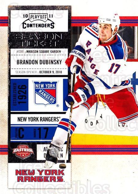2010-11 Panini Contenders #52 Brandon Dubinsky<br/>3 In Stock - $1.00 each - <a href=https://centericecollectibles.foxycart.com/cart?name=2010-11%20Panini%20Contenders%20%2352%20Brandon%20Dubinsk...&quantity_max=3&price=$1.00&code=283336 class=foxycart> Buy it now! </a>
