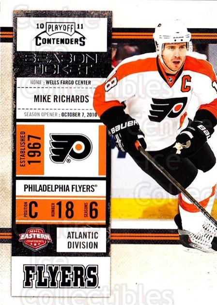 2010-11 Panini Contenders #54 Mike Richards<br/>3 In Stock - $1.00 each - <a href=https://centericecollectibles.foxycart.com/cart?name=2010-11%20Panini%20Contenders%20%2354%20Mike%20Richards...&quantity_max=3&price=$1.00&code=283338 class=foxycart> Buy it now! </a>