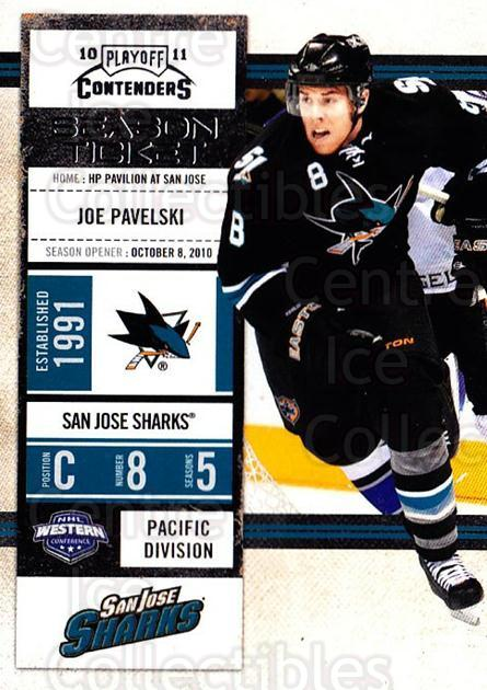 2010-11 Panini Contenders #56 Joe Pavelski<br/>3 In Stock - $1.00 each - <a href=https://centericecollectibles.foxycart.com/cart?name=2010-11%20Panini%20Contenders%20%2356%20Joe%20Pavelski...&quantity_max=3&price=$1.00&code=283340 class=foxycart> Buy it now! </a>