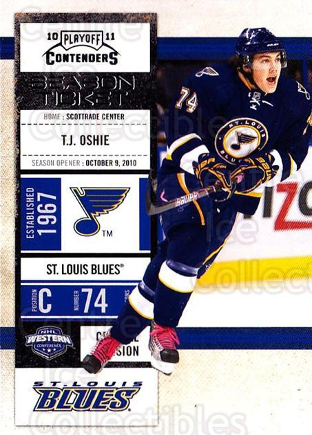 2010-11 Panini Contenders #57 TJ Oshie<br/>3 In Stock - $1.00 each - <a href=https://centericecollectibles.foxycart.com/cart?name=2010-11%20Panini%20Contenders%20%2357%20TJ%20Oshie...&quantity_max=3&price=$1.00&code=283341 class=foxycart> Buy it now! </a>