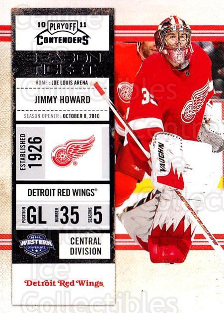 2010-11 Panini Contenders #67 Jimmy Howard<br/>3 In Stock - $1.00 each - <a href=https://centericecollectibles.foxycart.com/cart?name=2010-11%20Panini%20Contenders%20%2367%20Jimmy%20Howard...&quantity_max=3&price=$1.00&code=283351 class=foxycart> Buy it now! </a>