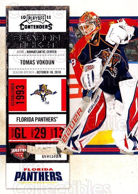 2010-11 Panini Contenders #68 Tomas Vokoun<br/>2 In Stock - $1.00 each - <a href=https://centericecollectibles.foxycart.com/cart?name=2010-11%20Panini%20Contenders%20%2368%20Tomas%20Vokoun...&quantity_max=2&price=$1.00&code=283352 class=foxycart> Buy it now! </a>