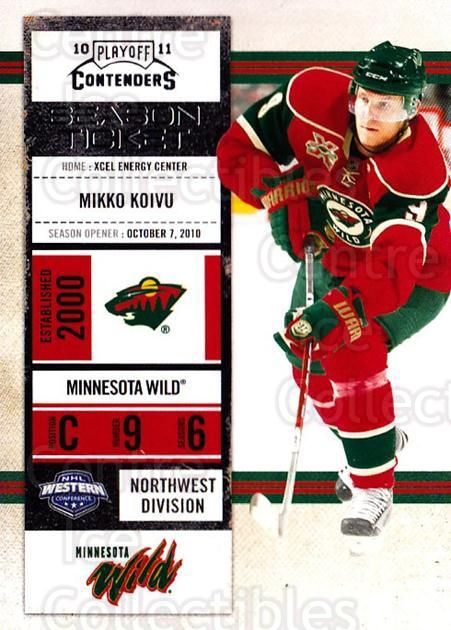 2010-11 Panini Contenders #69 Mikko Koivu<br/>3 In Stock - $1.00 each - <a href=https://centericecollectibles.foxycart.com/cart?name=2010-11%20Panini%20Contenders%20%2369%20Mikko%20Koivu...&quantity_max=3&price=$1.00&code=283353 class=foxycart> Buy it now! </a>