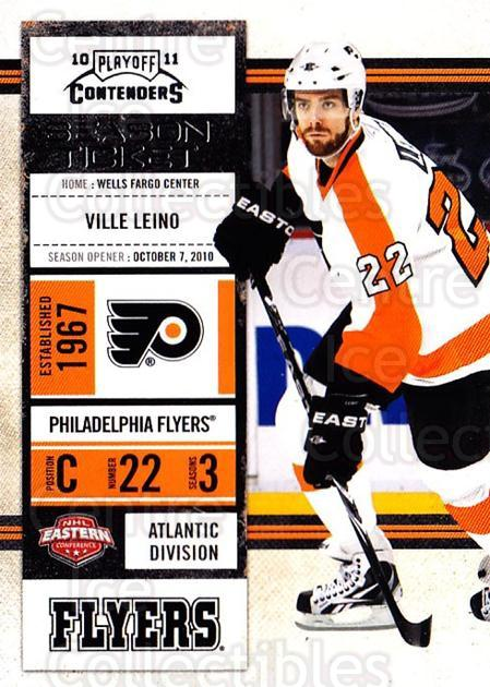 2010-11 Panini Contenders #74 Ville Leino<br/>3 In Stock - $1.00 each - <a href=https://centericecollectibles.foxycart.com/cart?name=2010-11%20Panini%20Contenders%20%2374%20Ville%20Leino...&quantity_max=3&price=$1.00&code=283358 class=foxycart> Buy it now! </a>