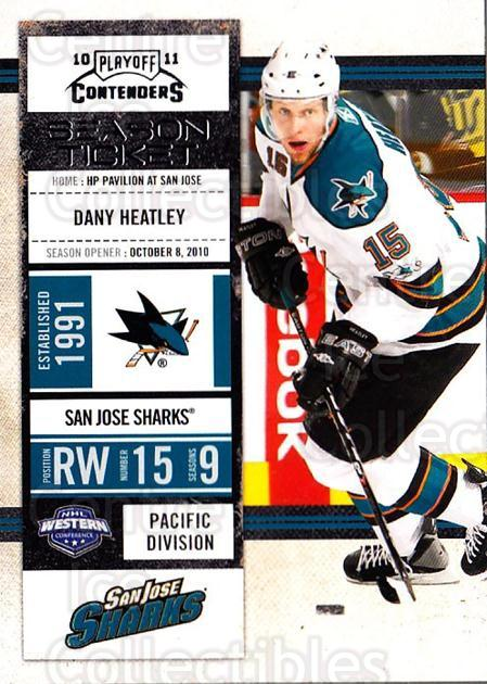 2010-11 Panini Contenders #76 Dany Heatley<br/>2 In Stock - $1.00 each - <a href=https://centericecollectibles.foxycart.com/cart?name=2010-11%20Panini%20Contenders%20%2376%20Dany%20Heatley...&quantity_max=2&price=$1.00&code=283360 class=foxycart> Buy it now! </a>
