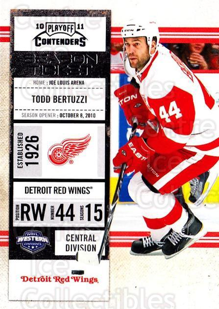 2010-11 Panini Contenders #86 Todd Bertuzzi<br/>3 In Stock - $1.00 each - <a href=https://centericecollectibles.foxycart.com/cart?name=2010-11%20Panini%20Contenders%20%2386%20Todd%20Bertuzzi...&quantity_max=3&price=$1.00&code=283370 class=foxycart> Buy it now! </a>
