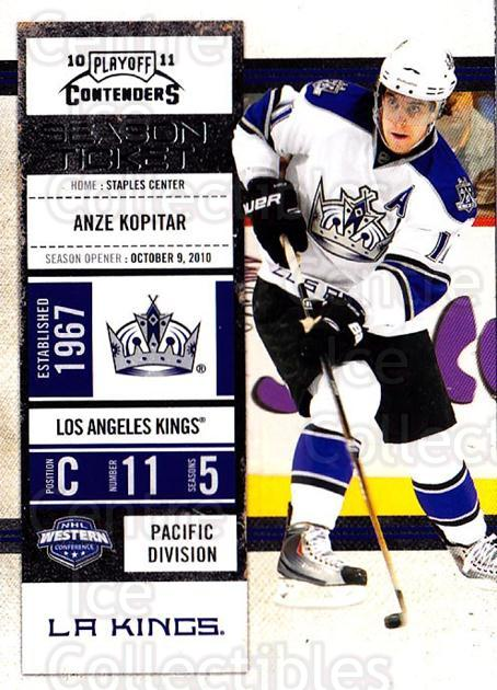 2010-11 Panini Contenders #88 Anze Kopitar<br/>3 In Stock - $1.00 each - <a href=https://centericecollectibles.foxycart.com/cart?name=2010-11%20Panini%20Contenders%20%2388%20Anze%20Kopitar...&quantity_max=3&price=$1.00&code=283372 class=foxycart> Buy it now! </a>